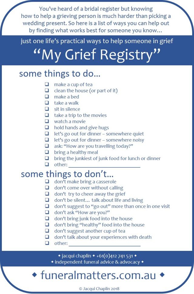 Ways of getting and giving support in grief